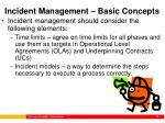 incident management basic concepts