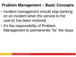problem management basic concepts