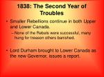 1838 the second year of troubles