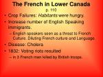the french in lower canada p 110