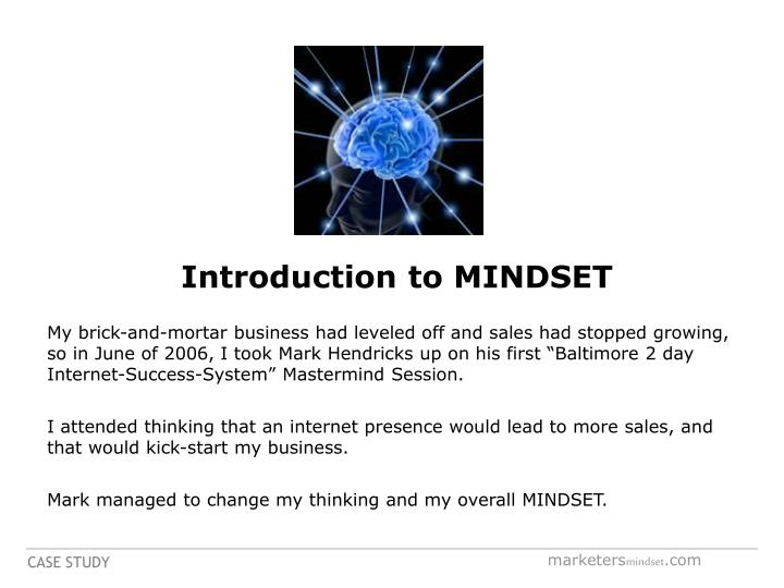 Introduction to MINDSET