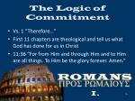 the logic of commitment8
