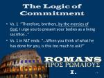 the logic of commitment9
