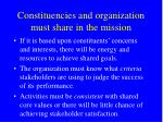 constituencies and organization must share in the mission