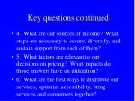 key questions continued