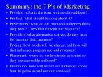 summary the 7 p s of marketing