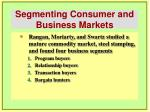 segmenting consumer and business markets25