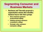 segmenting consumer and business markets26