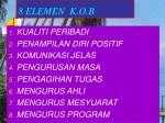 8 elemen k o b