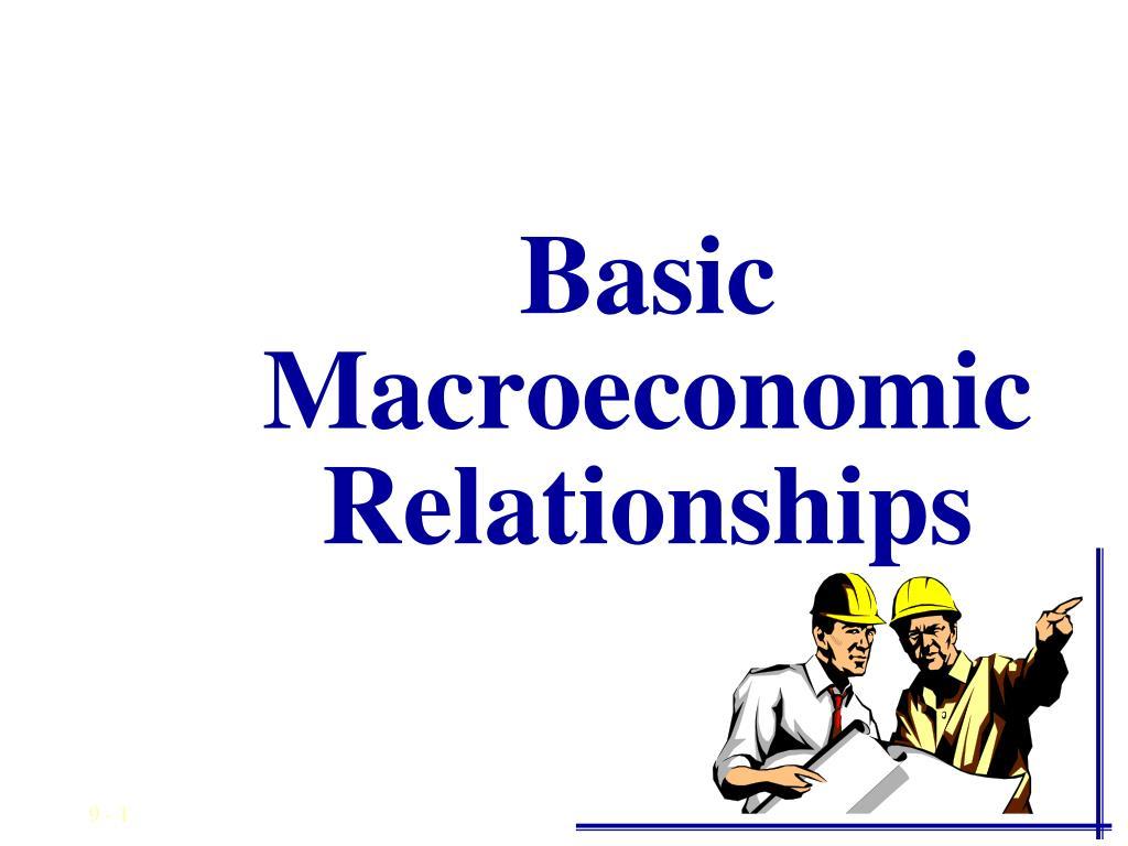 basic macroeconomic relationships l.