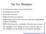 the tax multiplier27