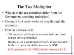 the tax multiplier28