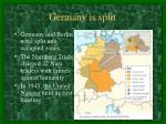 germany is split