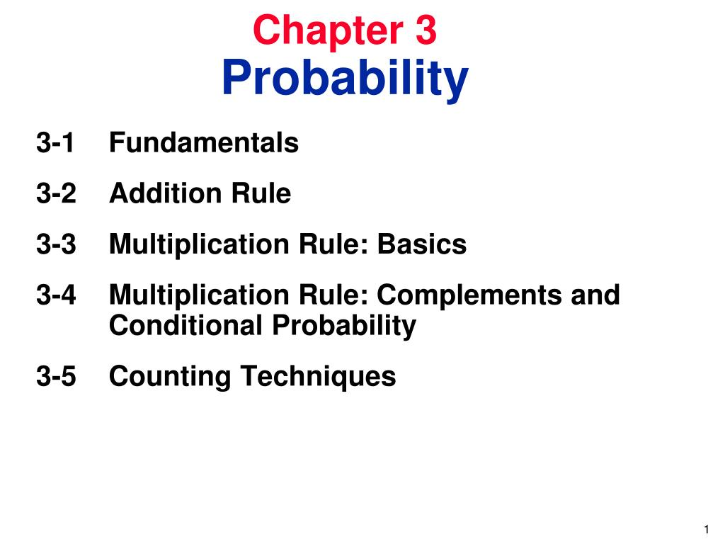 chapter 3 probability l.