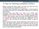8 tips for writing complaint letters