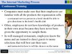 the internal marketing process38