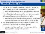 the internal marketing process41