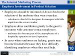 the internal marketing process51