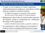 the internal marketing process53