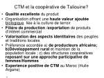 ctm et la coop rative de taliouine