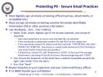 protecting pii secure email practices
