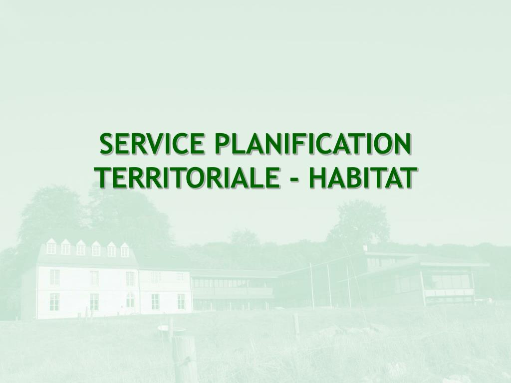 service planification territoriale habitat l.