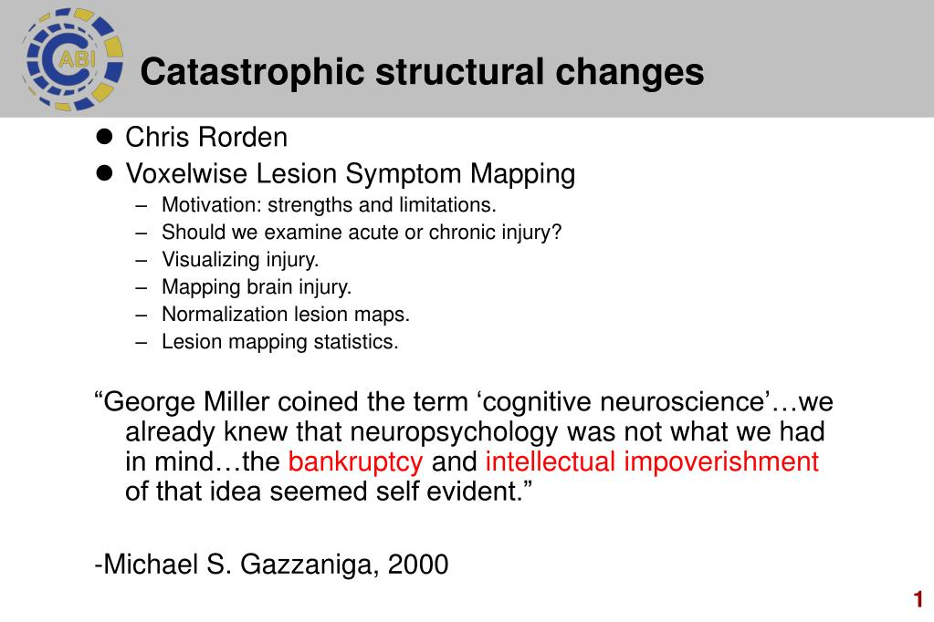 catastrophic structural changes l.