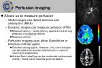 perfusion imaging