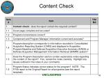content check