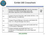 exhibit 300 crosscheck