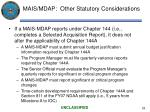 mais mdap other statutory considerations