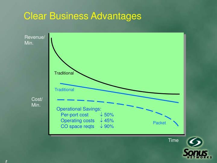 Clear business advantages