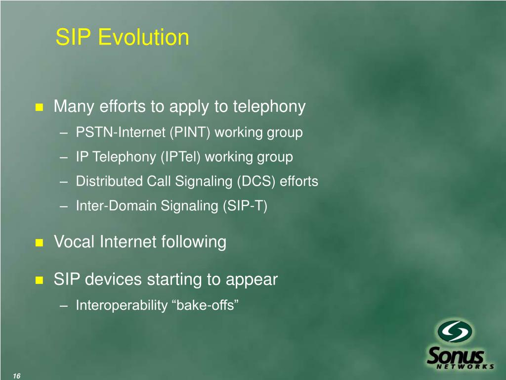 SIP Evolution
