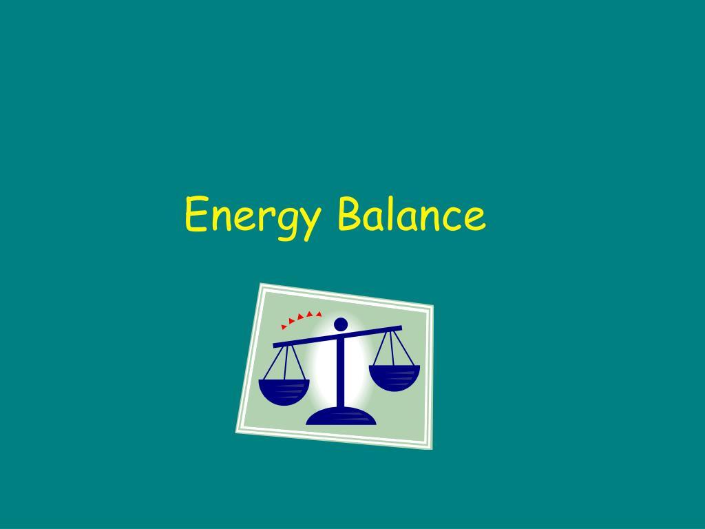 energy balance l.
