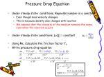 pressure drop equation