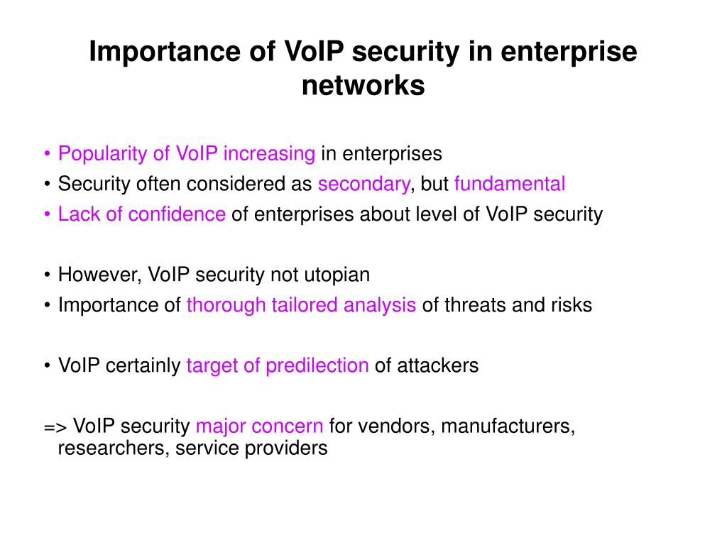 Importance of VoIP security in enterprise networks