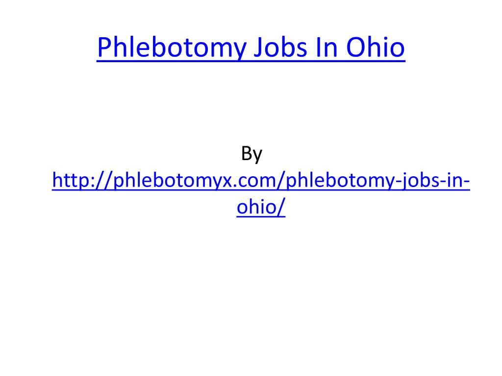 phlebotomy jobs in ohio l.