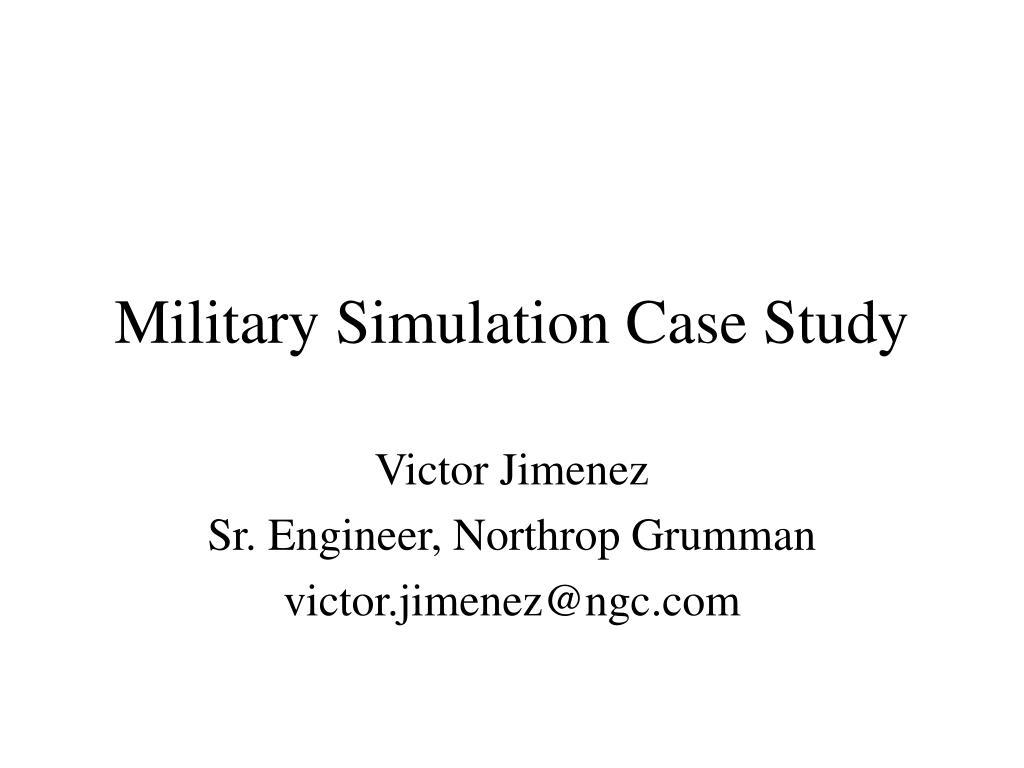 military simulation case study l.