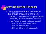 arms reduction proposal