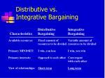distributive vs integrative bargaining