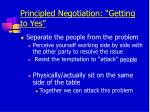 principled negotiation getting to yes