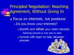 principled negotiation reaching agreement without giving in