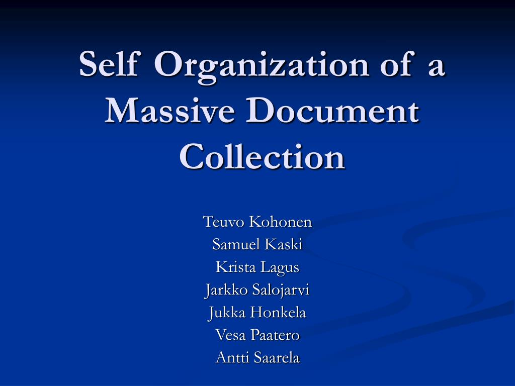 self organization of a massive document collection l.