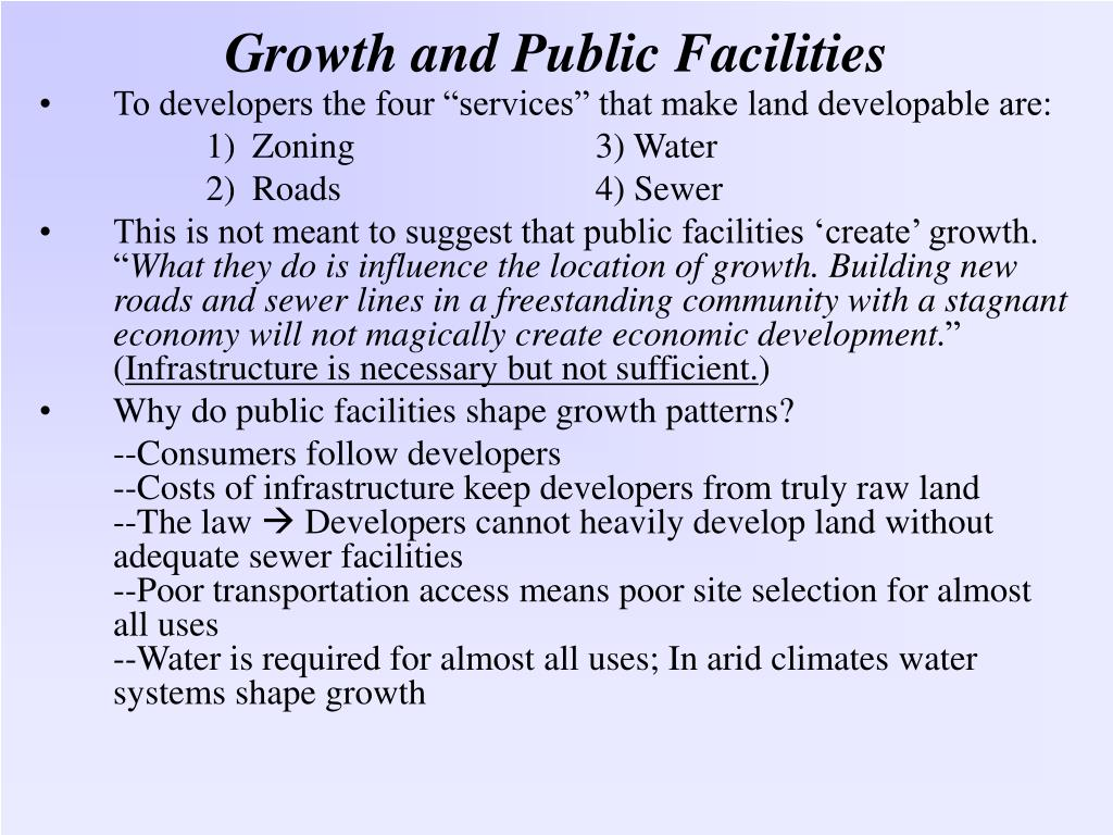 growth and public facilities l.