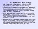 tlc s urban service area strategy