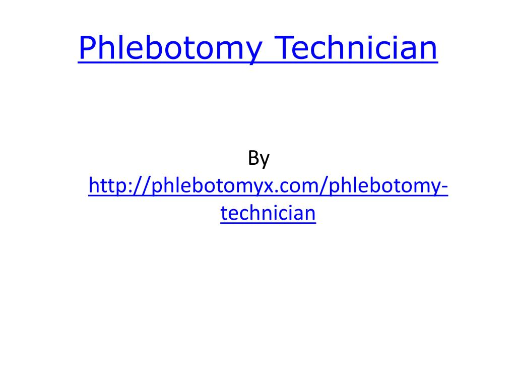 phlebotomy technician l.