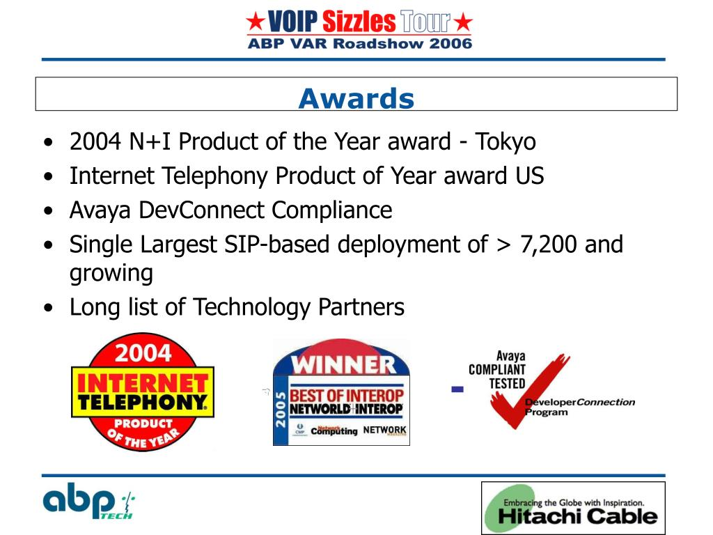 2004 N+I Product of the Year award - Tokyo