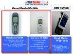 current handset portfolio tbr 4q 06