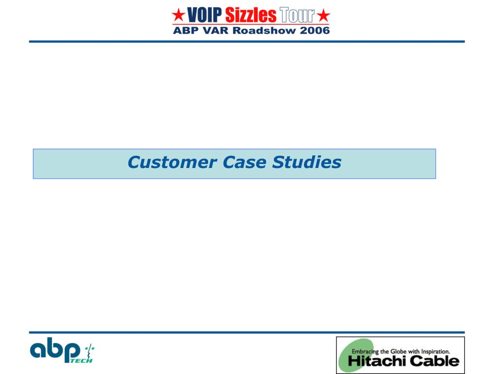 Customer Case Studies