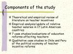components of the study